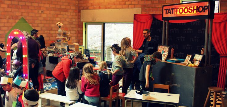 Tattoo shop for kids during an event in Brussel (2016)