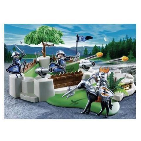4014 Bastion des chevaliers Superset  - marque : Playmobil Coffret de jeu transportable Playmobil 4014 grâce à sa poignée. Le décor du jeu est déjà monté pour pouvoir jouer rapidement. Le canon tire des projectiles. Avec trois cheva... prix : 14.90 EUR €  chez Auchan #Playmobil #Auchan