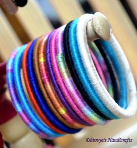 Silk thread bangles -DIY