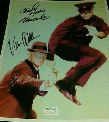 THE-GREEN-HORNET-Van-Williams-Bruce-Lee-8x10-Autographed-RP-lustre-Photo