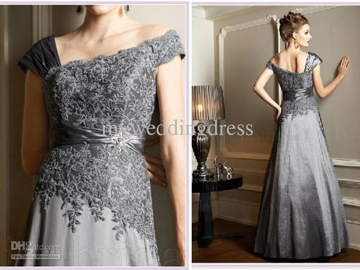 Wholesale Hot Sexy Silver Gray Applique Sequin Mother of the Bride Dress Prom/Evening/Bridal Gown Dresses 5525, Free shipping, $114.24-128.8/Piece | DHgate