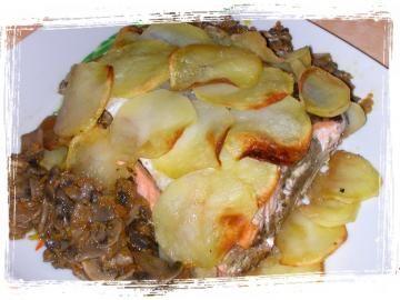 Salmone Farcito In Crosta Di Patate