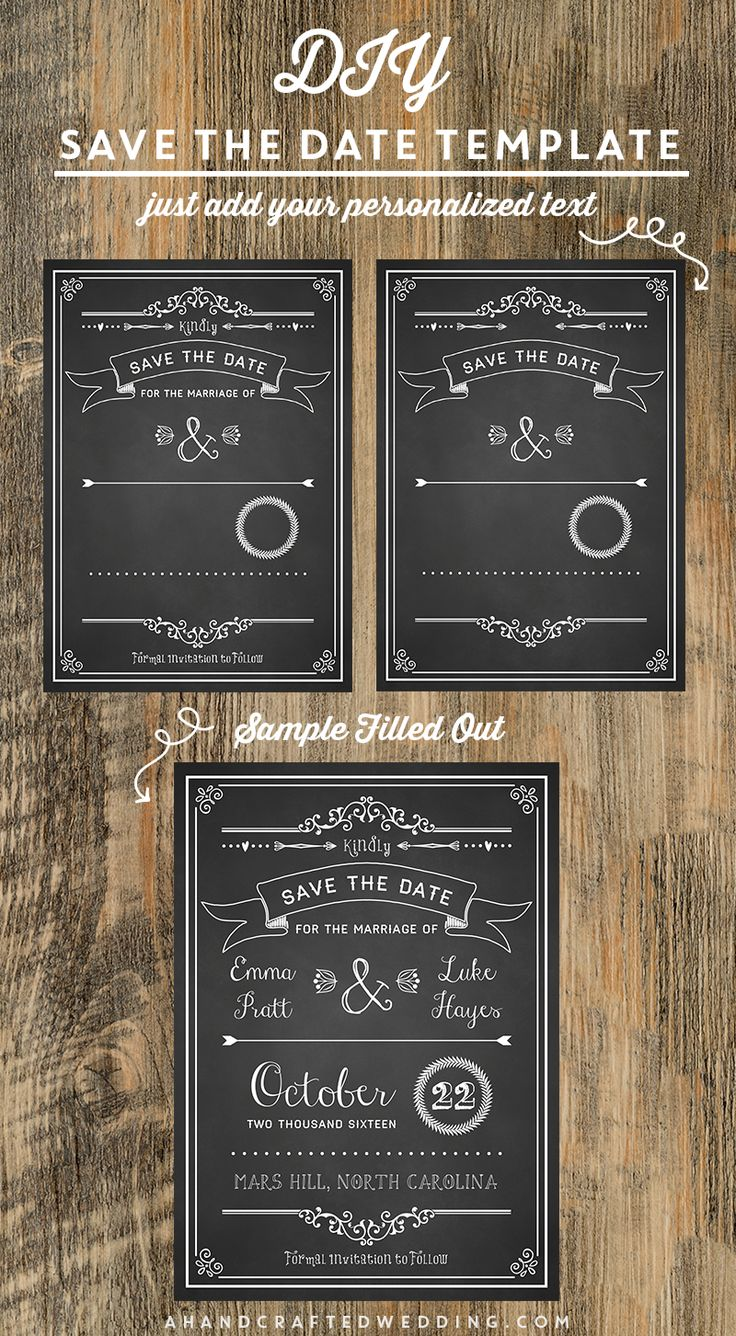 Diy save the date template ahandcraftedwedding for Diy save the date magnets template