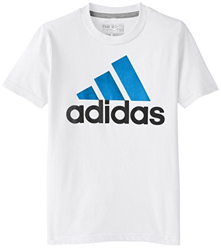 adidas Big Boys' Adi Logo Short Sleeve Tee, White/Blue, Small adidas http://www.amazon.com/dp/B00U0XO5IU/ref=cm_sw_r_pi_dp_QO.ewb0S06YYM
