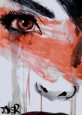 "Saatchi Online Artist: Loui Jover; Pen and Ink, Drawing ""interlude"""