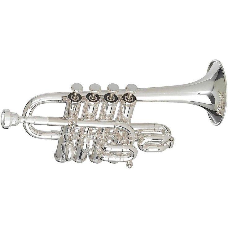 Getzen 940 Eterna Series Bb/A Piccolo Trumpet Silver