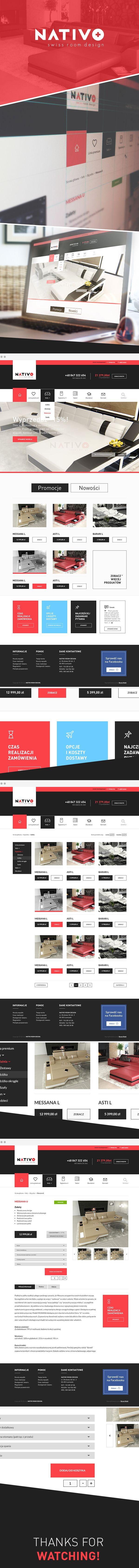NATIVO - furniture store by Rafał Baran, via Behance