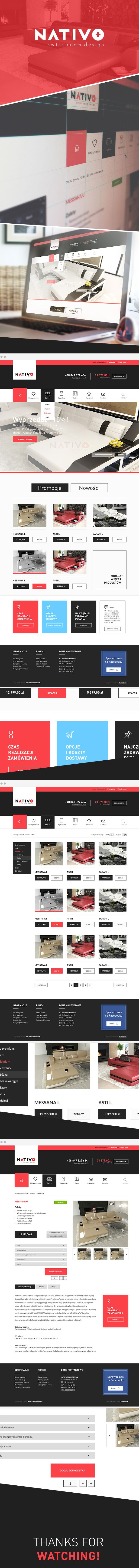 NATIVO - furniture store by Rafał Baran, via Behance