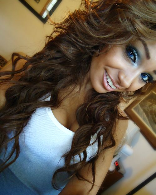 ombre hair styles light brown hair hair color curly makeup eye makeup 5566