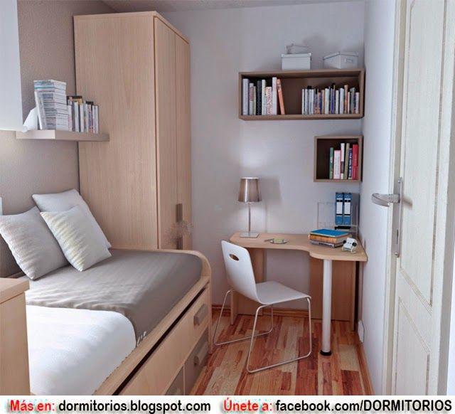 M s de 1000 ideas sobre peque os dormitorios de - Pintar habitacion pequena ...