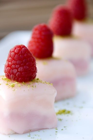 '<3'   lime-raspberry petits fours
