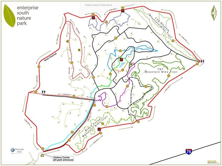 Enterprise South Nature Park Mountain Bike Trails