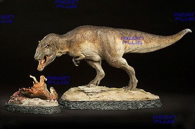 T-REX DINOSAUR KING OF JURASSIC WITH MEAL RARE HIGH UNPAINTED MODEL RESIN KIT