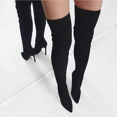 Best 25  Knee high heels ideas on Pinterest | Shoes heels boots ...