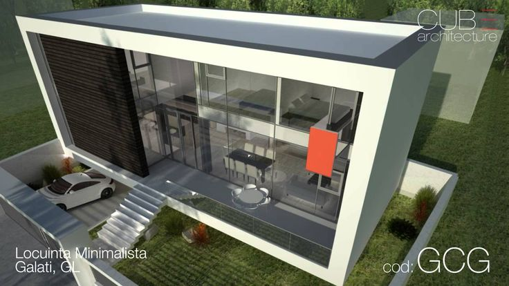 Proiecte case | Locuinta Minimalista, Galati, GL | cod GCG  http://www.cubarhitect.ro/proiect-casa-moderna-gcg-galati