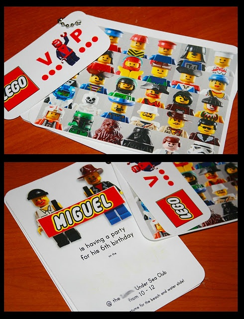 Lego birthday party with awesome free printables, including invitations and a coloring book!