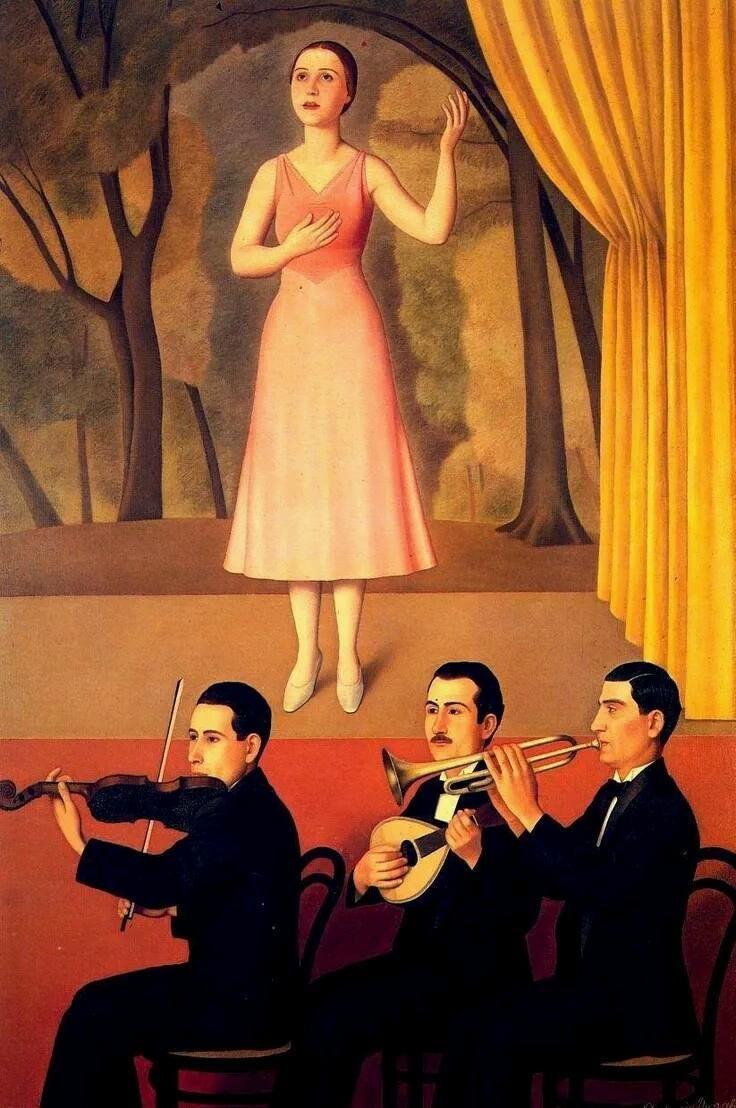 Canzone (1934). Antonio Donghi (Italian, 1897-1963).#ScuolaRomana900 #ArtTraces @PatriziaRametta @DGortanutti BNotte