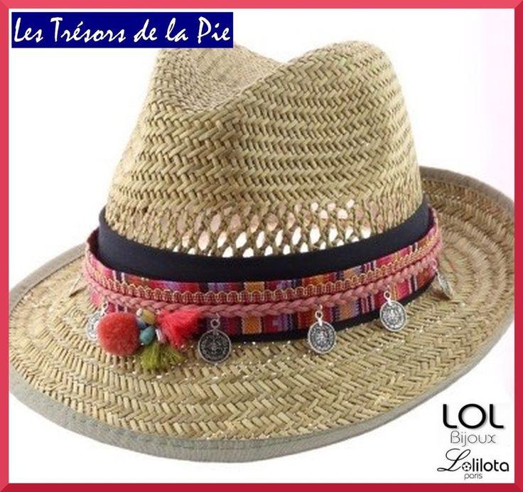 Bijou de chapeau LOL BIJOUX LOLILOTA 2016 - POMPONS & SEQUINS - Rose