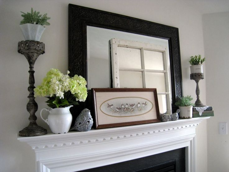 mantel pictures /ideas | Home Remedies: Pretty Spring Mantel