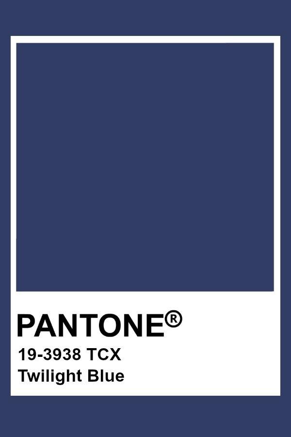 Pantone Twilight Blue Color Chart Mood Indigo Themes Combos