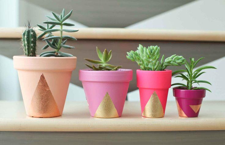 Faça você mesmo: decorando vasos de plantas | Design & Tendência Design & Tendência
