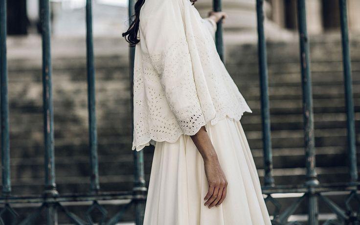 Armeno jacket worn on the dress Proust & Rocha turban