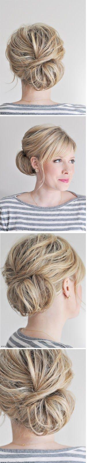 Low Chignon Hair Tutorial #coniefox