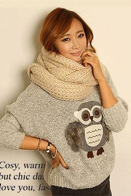 Today's Hot Pick :Owl Print Knit Sweater http://fashionstylep.com/SFSELFAA0000253/happy745kren/out High quality Korean fashion direct from our design studio in South Korea! We offer competitive pricing and guaranteed quality products. If you have any questions about sizing feel free to contact us any time and we can provide detailed measurements.