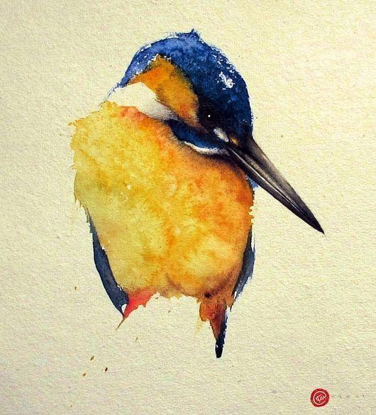 Kingfisher-Karl Martens, American born painter (b.1956). Watercolor