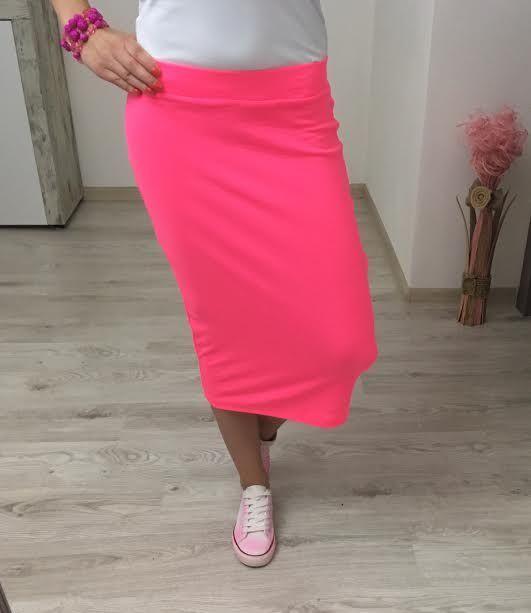 Tepláková sukňa neon ružová