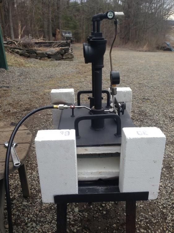 Knife Forging Ovens : Gas forge g my blacksmith creations pinterest