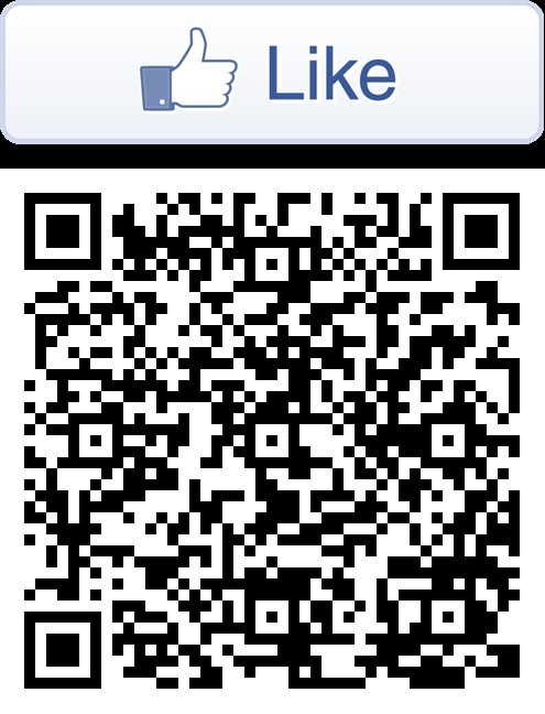 Like our facebook page!, this QR code will direct you to pictures of the beautiful doorhandles of the NS