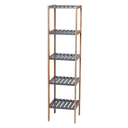 Sort It Bamboo 5 Tier Shelf Charcoal