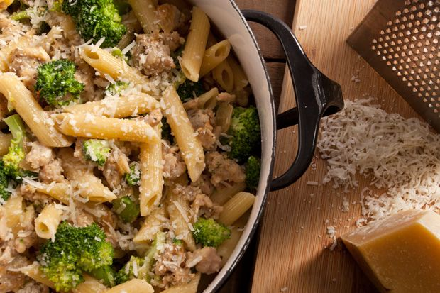 Cozy Chicken Recipes : Creamy Chicken Sausage and Broccoli Pasta ...