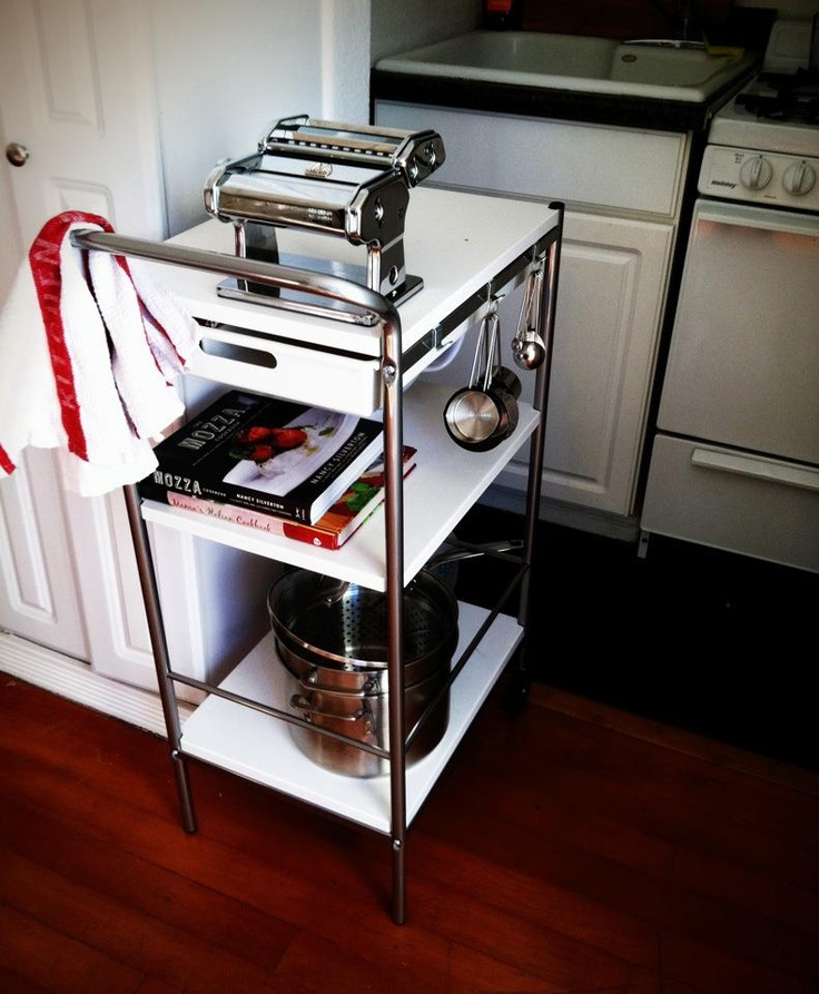 Cosco Chippy Red Metal Kitchen Cart Movable Painted Vintage: 137 Best Kitchen Cart Images On Pinterest