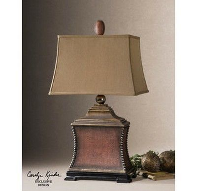 Uttermost 26326 Woven Texture Base Lamp With Textile Shade From The Pavia Collection