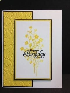 A Morning Meadow Birthday Wish Birthday Card Stampin Up! Rubber Stamping Handmade Card Stamp A Stack