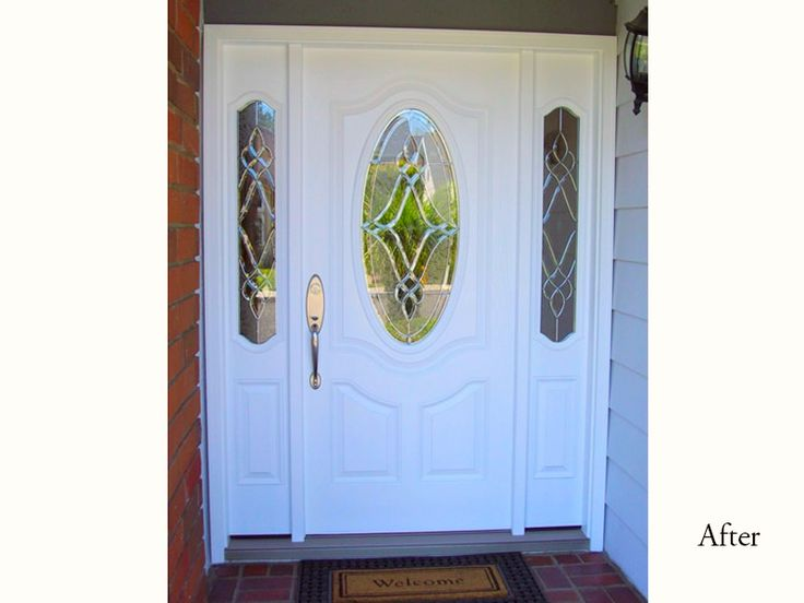 Classic Style PlastPro Fiberglass Five Foot Entry Door System Model DRS3P  With Luminance Glass Installed In