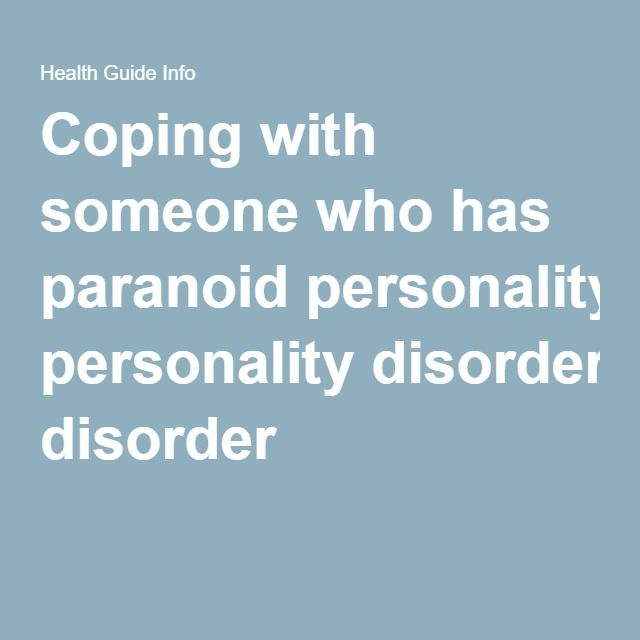 paraonid personality disorder Take this paranoid personality disorder test for an instant, anonymous  assessment of whether you may be exhibiting the symptoms of ppd.