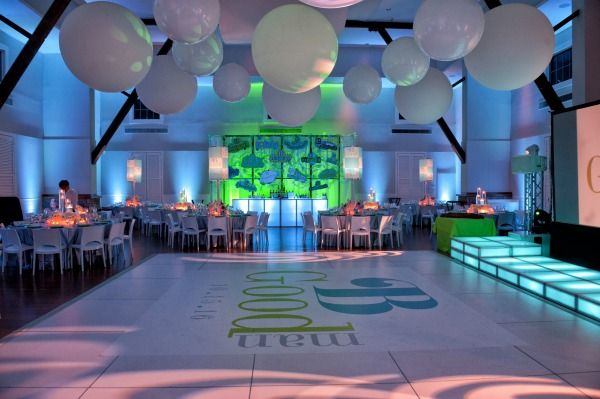 NY Bat Mitzvah Party - Dance Floor Decal & Oversized Balloons {Party by The Event of a Lifetime} - mazelmoments.com