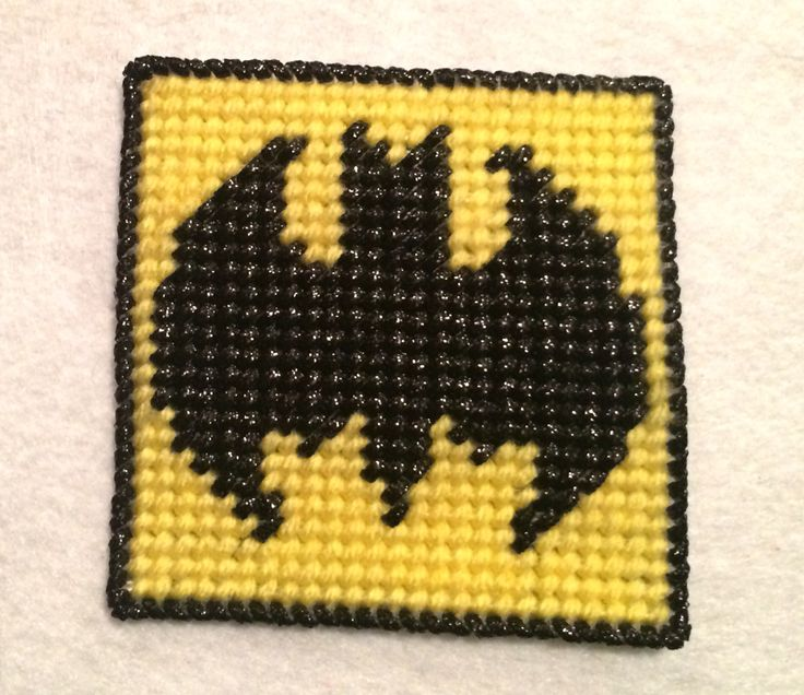 Batman plastic canvas coaster.