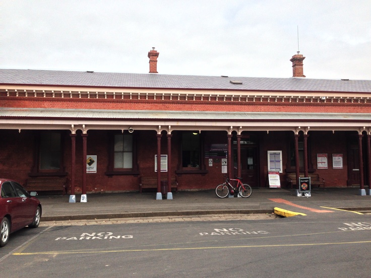 Castlemaine Railway Station circa 1862