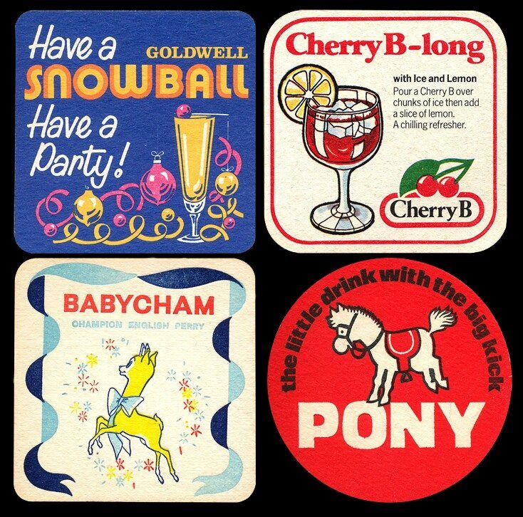 Babycham & Cherry B.  Pony and Snowball.  Drinks for retro gurls like me!