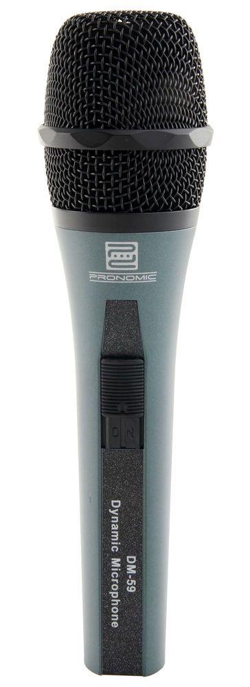 Pronomic Micrófono con conmutador DM-59, pot 55 Euros.