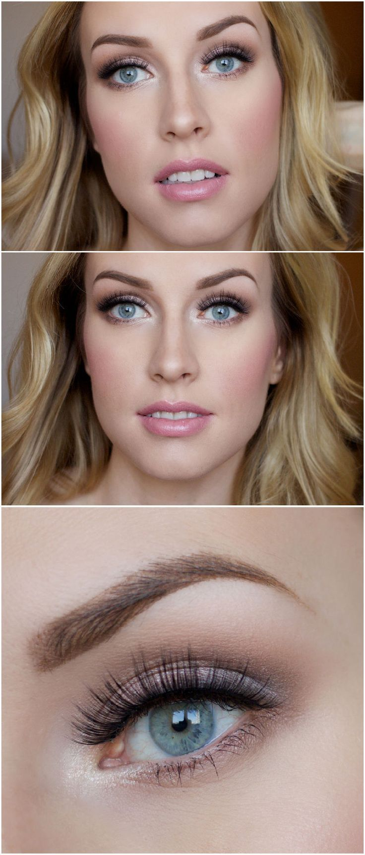 """Soft and super pretty bridal makeup - for those wanting a more """"natural"""" finish http://thepageantplanet.com/category/hair-and-makeup/"""