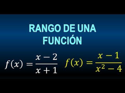 RANGO DE UNA FUNCION RACIONAL - RANGO DE FUNCIONES RACIONALES