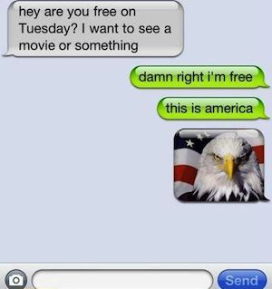 Damn right.Born Free, Funny Things, Laugh, Funny Pics, America, The Eagles, Dentists, Humor, So Funny