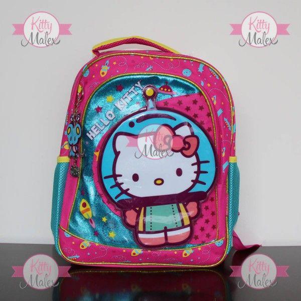 Mochila GRANDE RUZ Rosa/Azul Hello Kitty