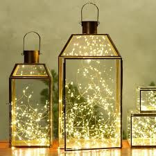 lanterns with fairy lights