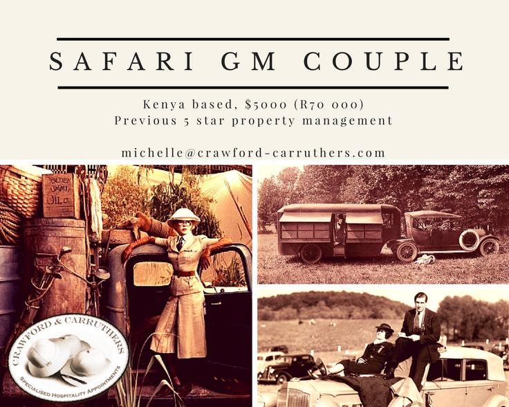 #crawfordcarruthers @crawfordandcarruthers #safari safarijobs #safaricouple